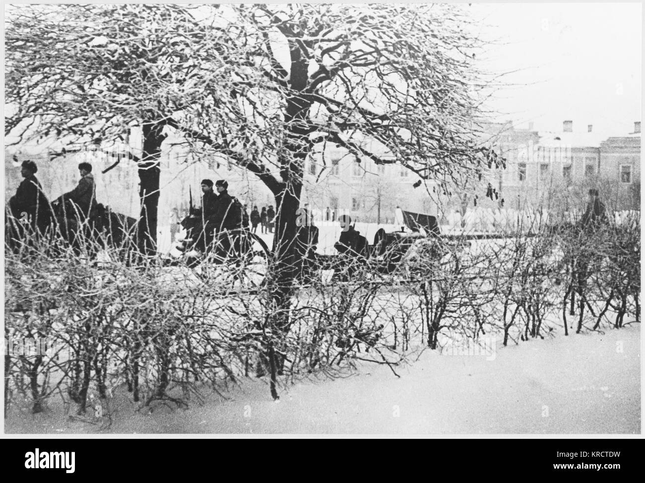 LIBERATION SCENES The liberation of Kalinin. Date: 1942 - Stock Image