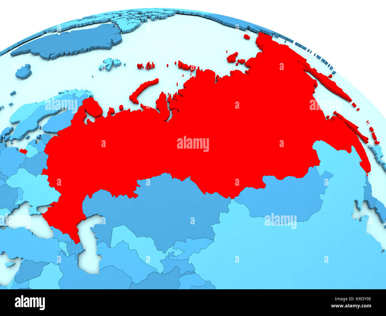 Russia Political Map Stock Photos Russia