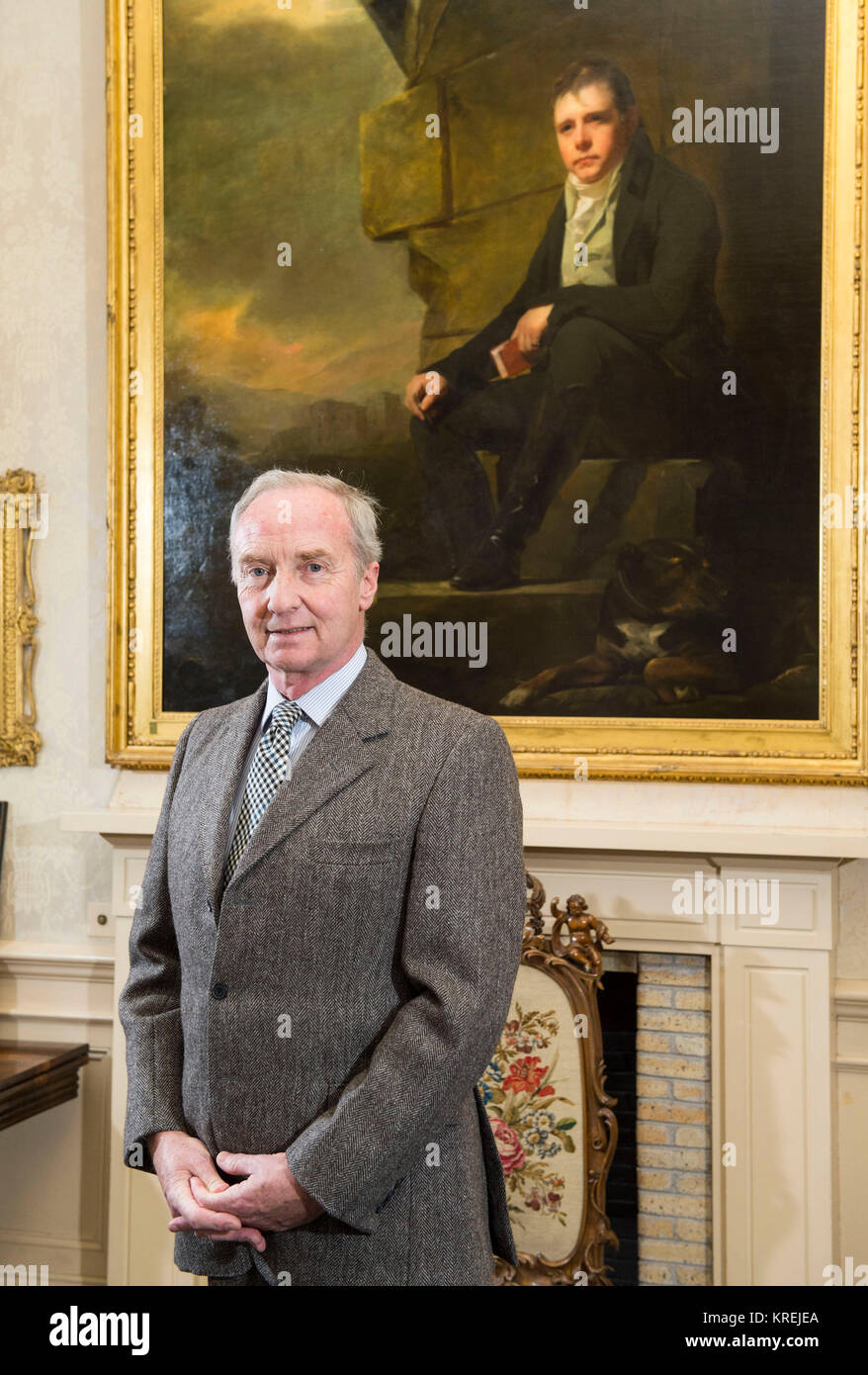 Richard Scott 10th Duke of Buccleuch pictured at Bowhill House near Selkirk, Scotland. - Stock Image