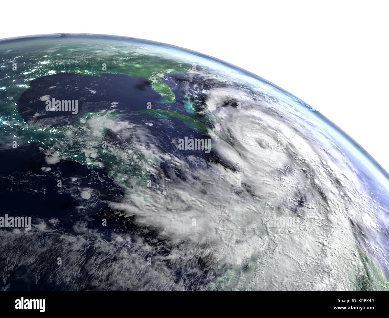 Hurricane Matthew catastrophe - Stock Image