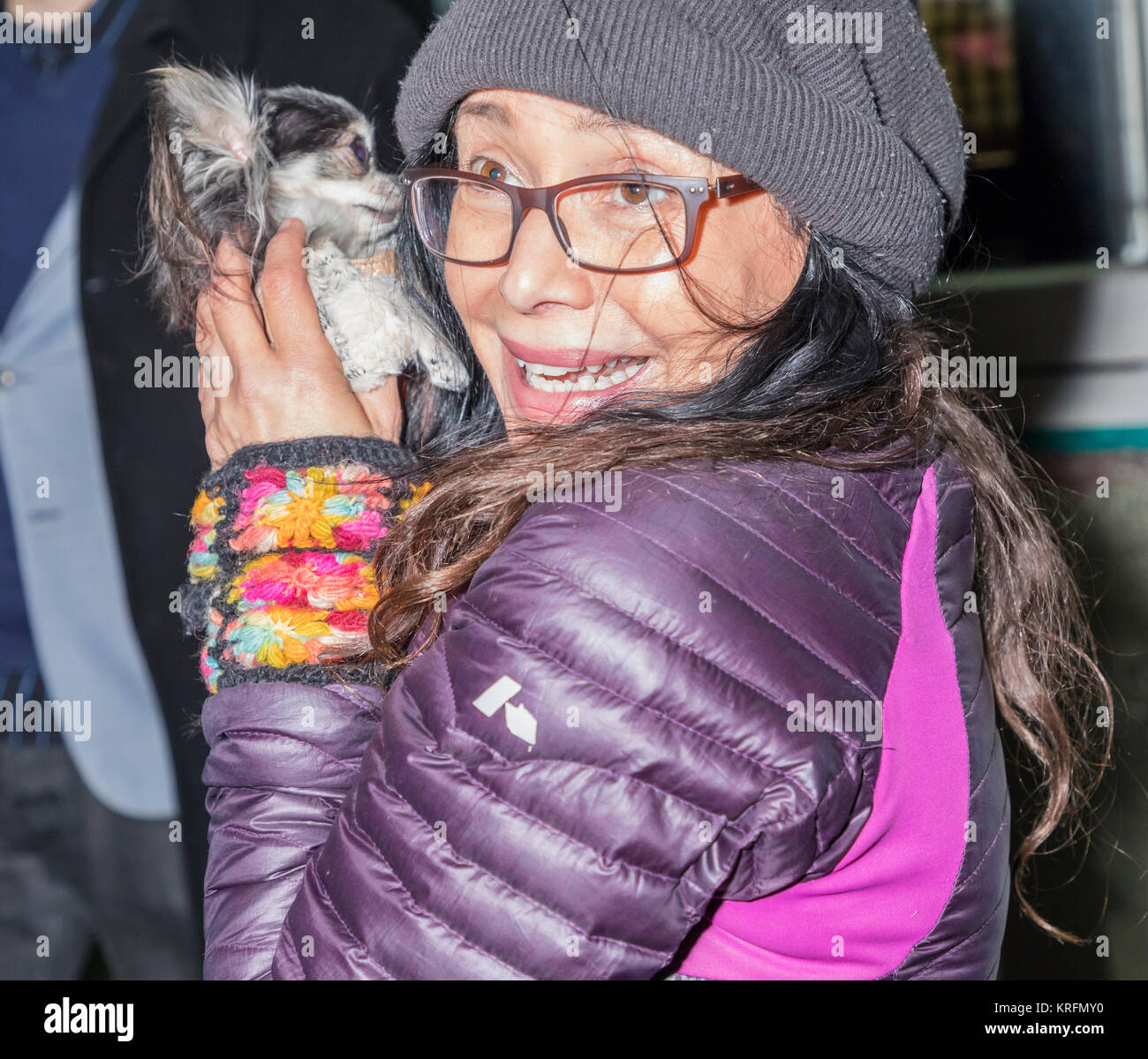 New York, NY, USA - December 19: Actress Janeane Garofalo attend Paw Prints 1st Annual Paw-liday party screening Stock Photo