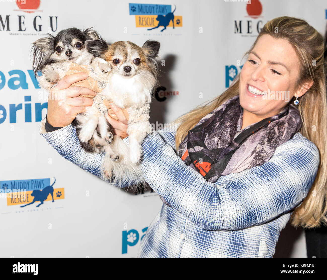 New York, NY, USA - December 19: Tansy and Corazon at the Paw Prints 1st Annual Paw-liday party screening of 'Best Stock Photo