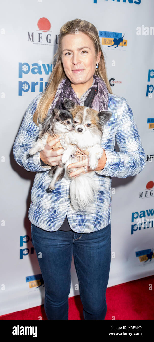 New York, NY, USA - December 19: Tansy and Corazon at the Paw Prints 1st Annual Paw-liday party screening of 'Best - Stock Image