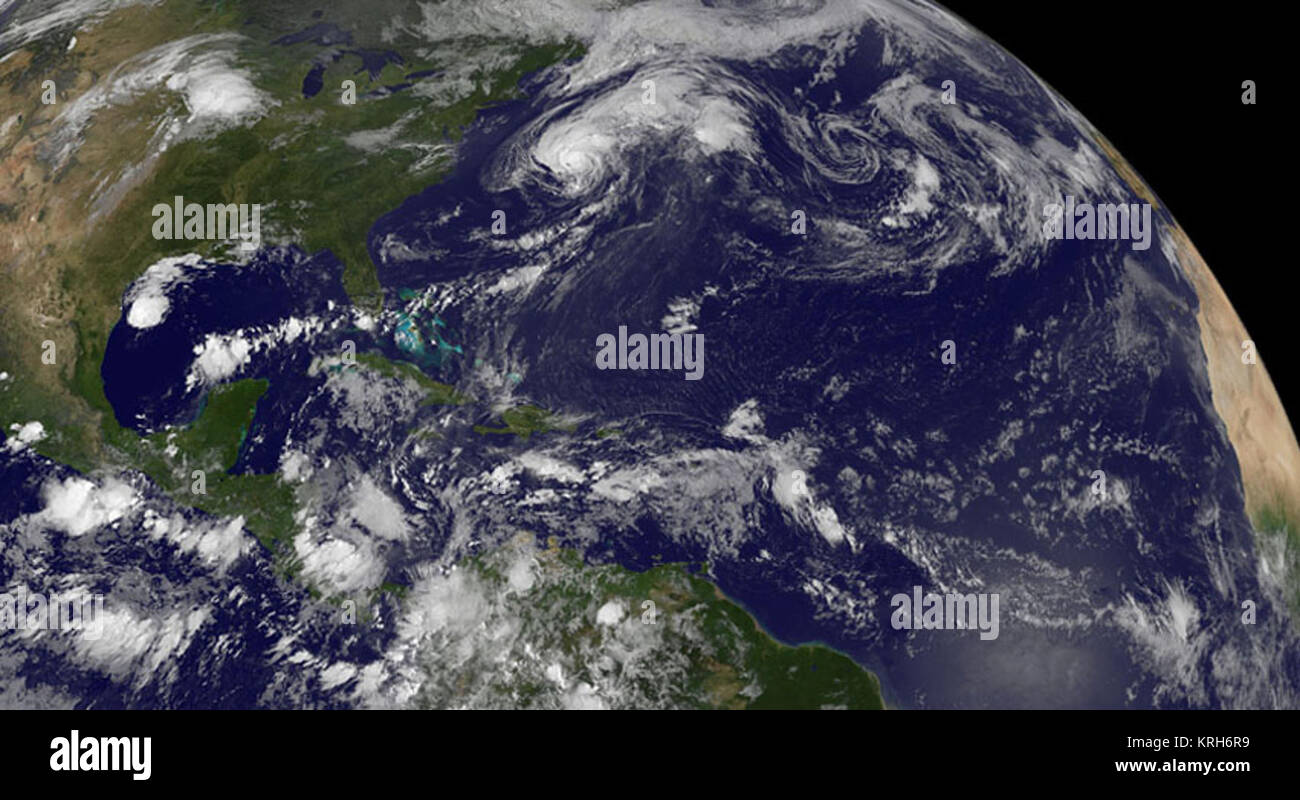 Satellite Sees a Hyperactive Tropical Atlantic (14877240377) - Stock Image