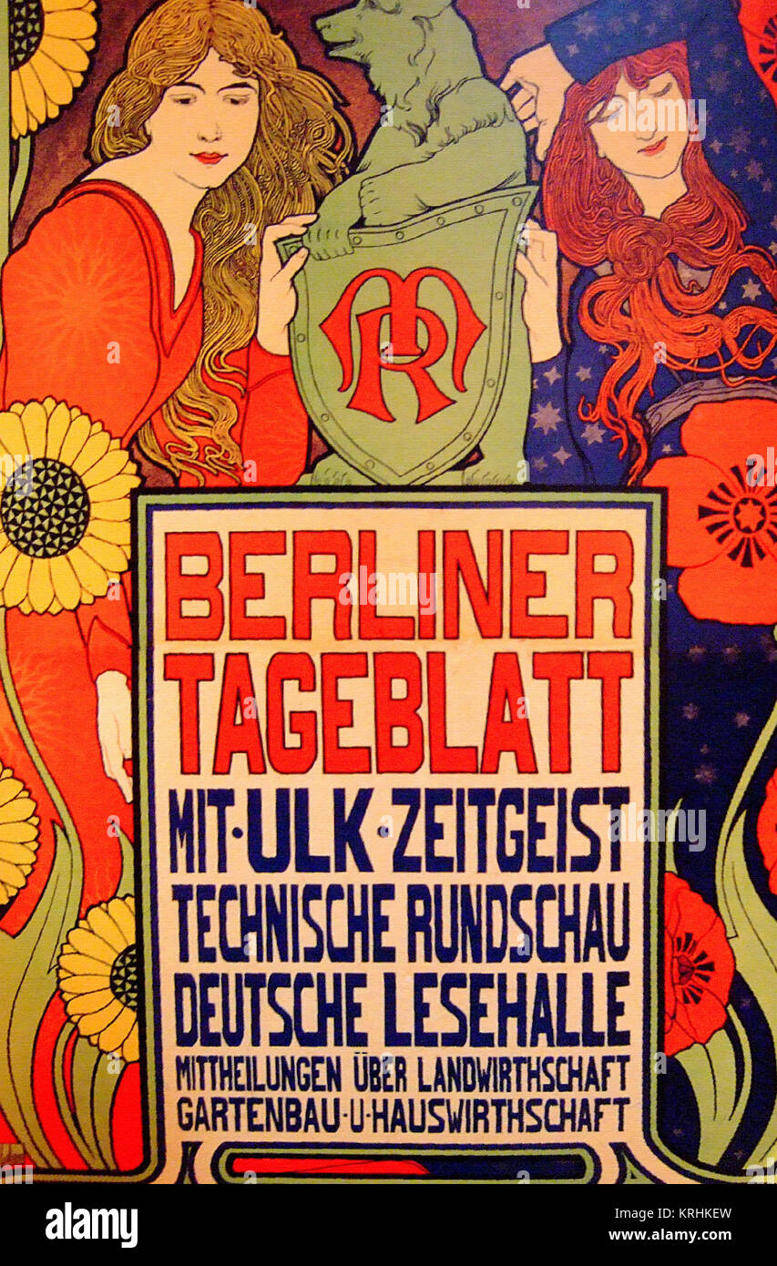 Berlin Daily Newspaper Poster - Stock Image