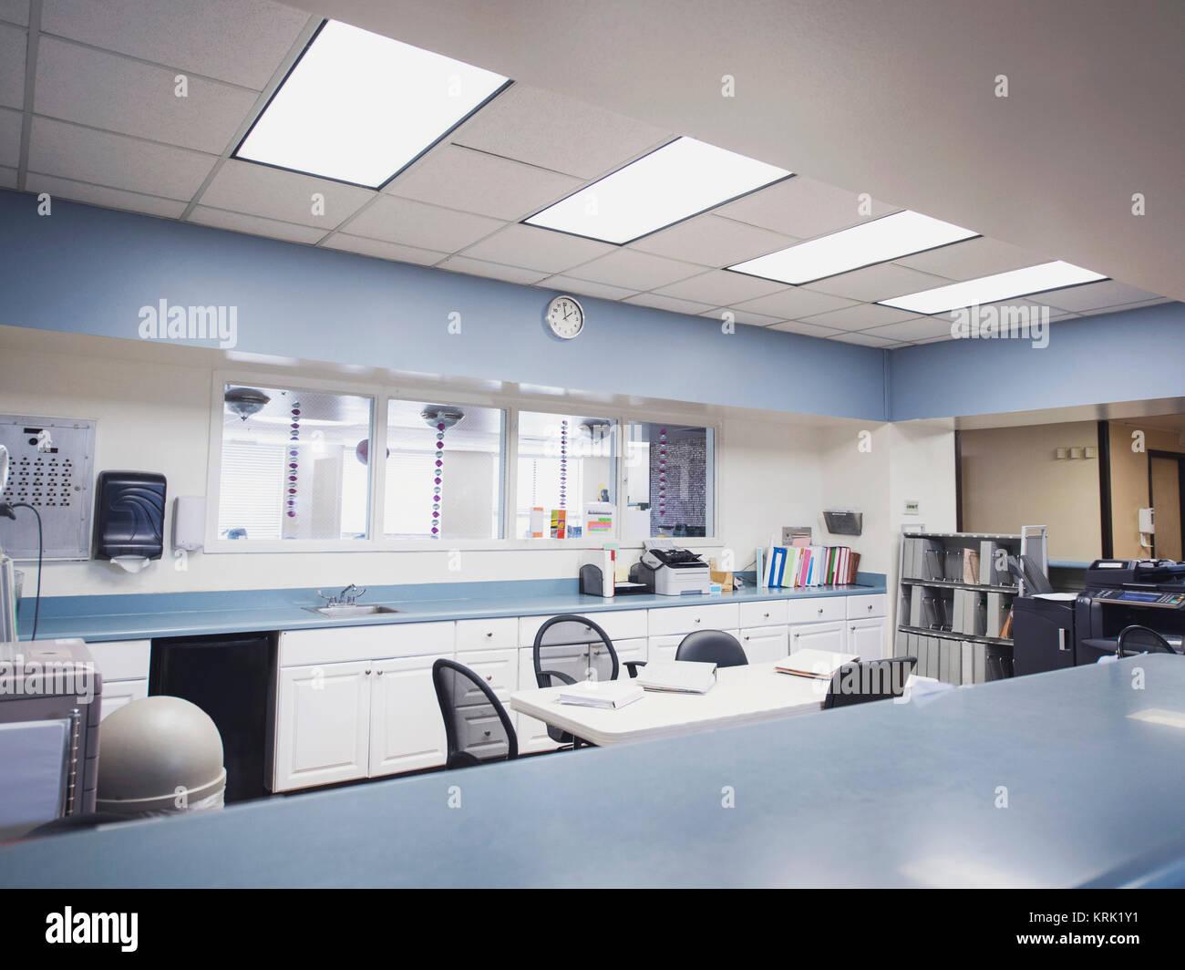 Empty hospital lounge - Stock Image