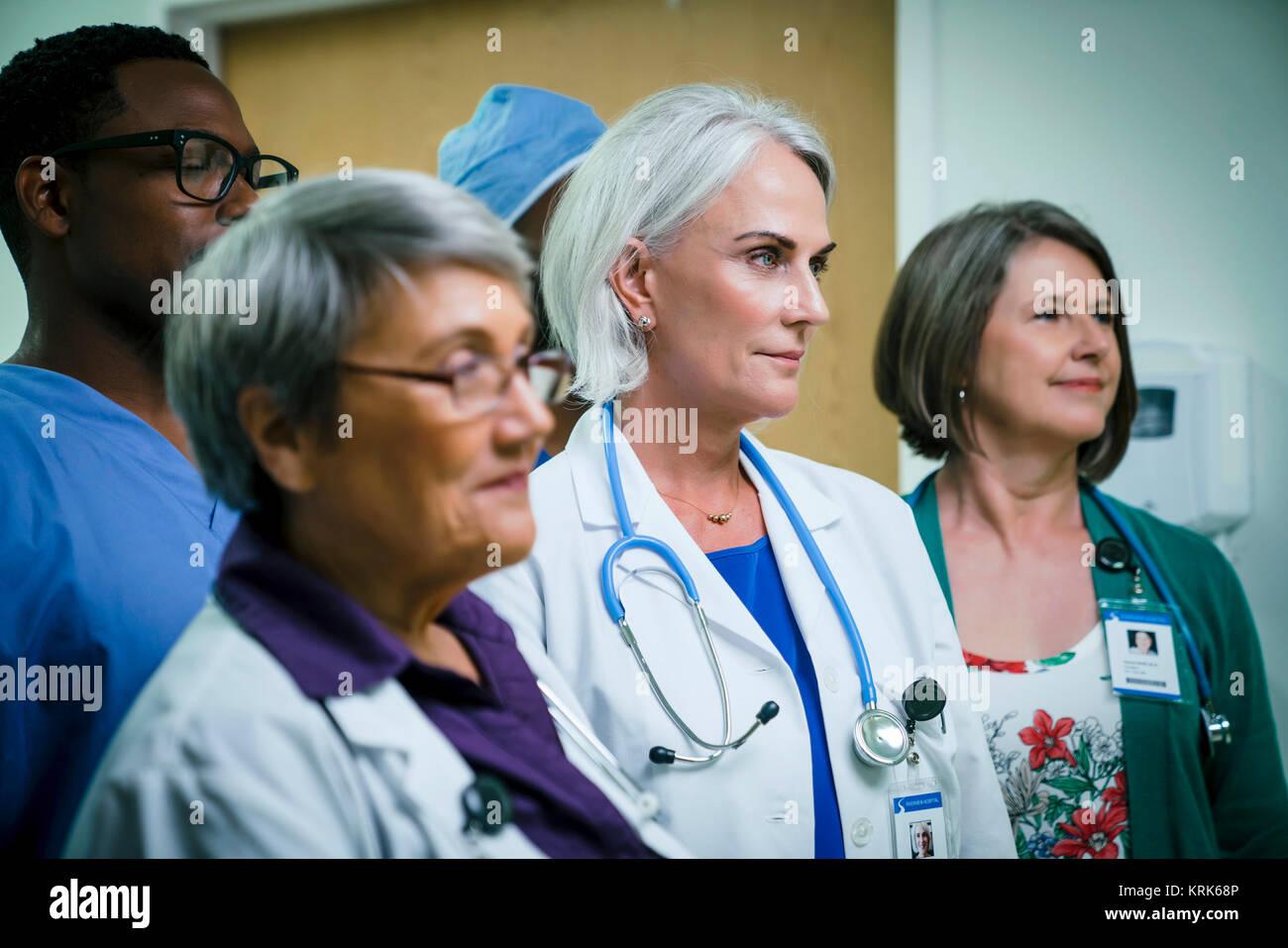 Portrait of confident medical team - Stock Image