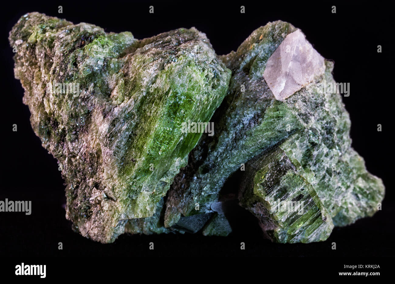 Calcium Silicate Crystal : Diopside stock photos images alamy