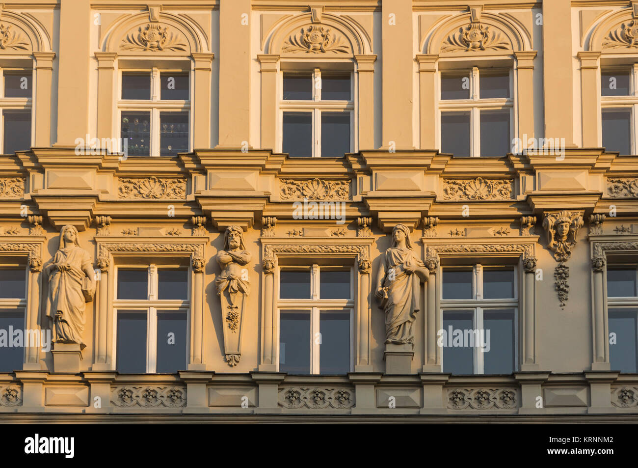 Art Deco Facade , Planufer at  Landwehrkanal, Kreuzberg, Berlin , Germany - Stock Image