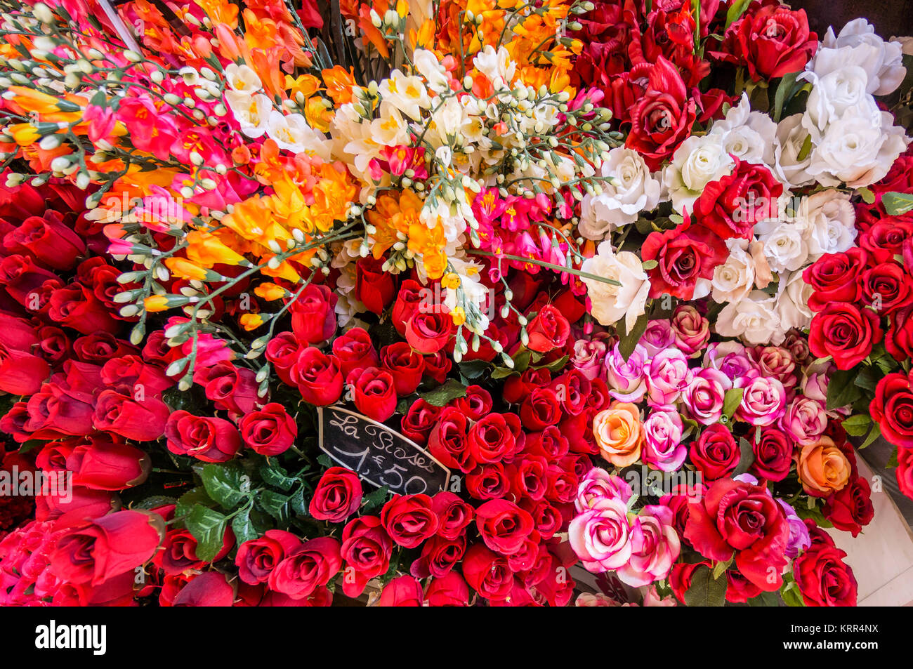 Bouquets in Flower Market , Nice, France, - Stock Image