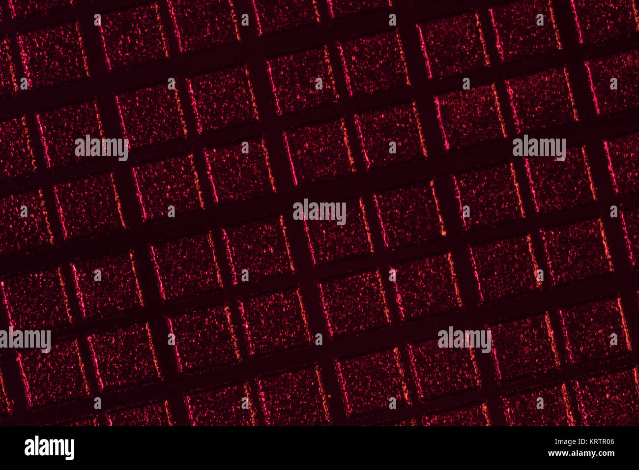 Abstract macro-photo of the textures on the casing of a VHS cassette. - Stock Image