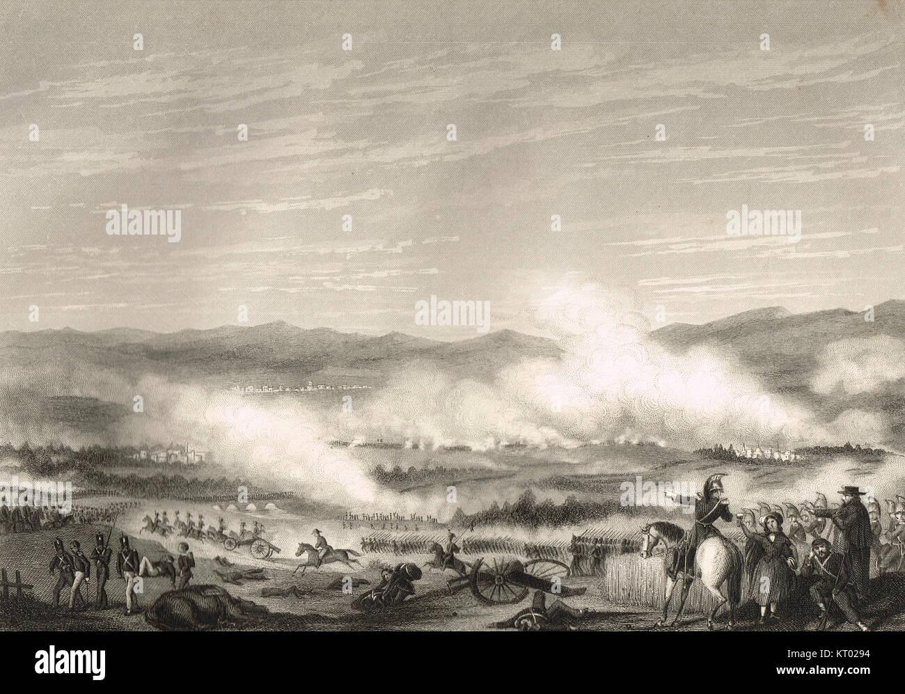 Battle of Vitoria, 21 June 1813 - Stock Image