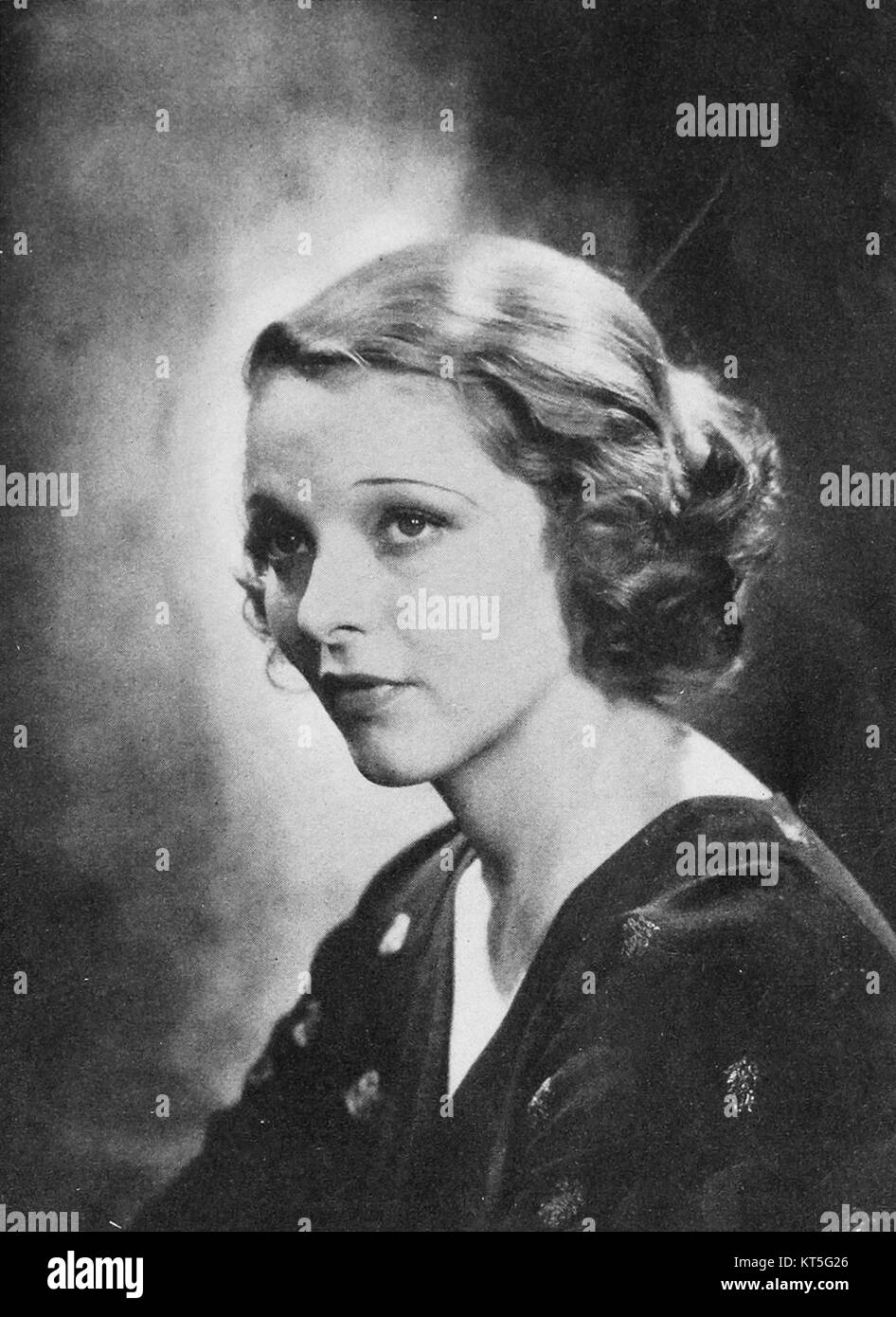 Sally Blane - Motion Picture, May 1932 - Stock Image
