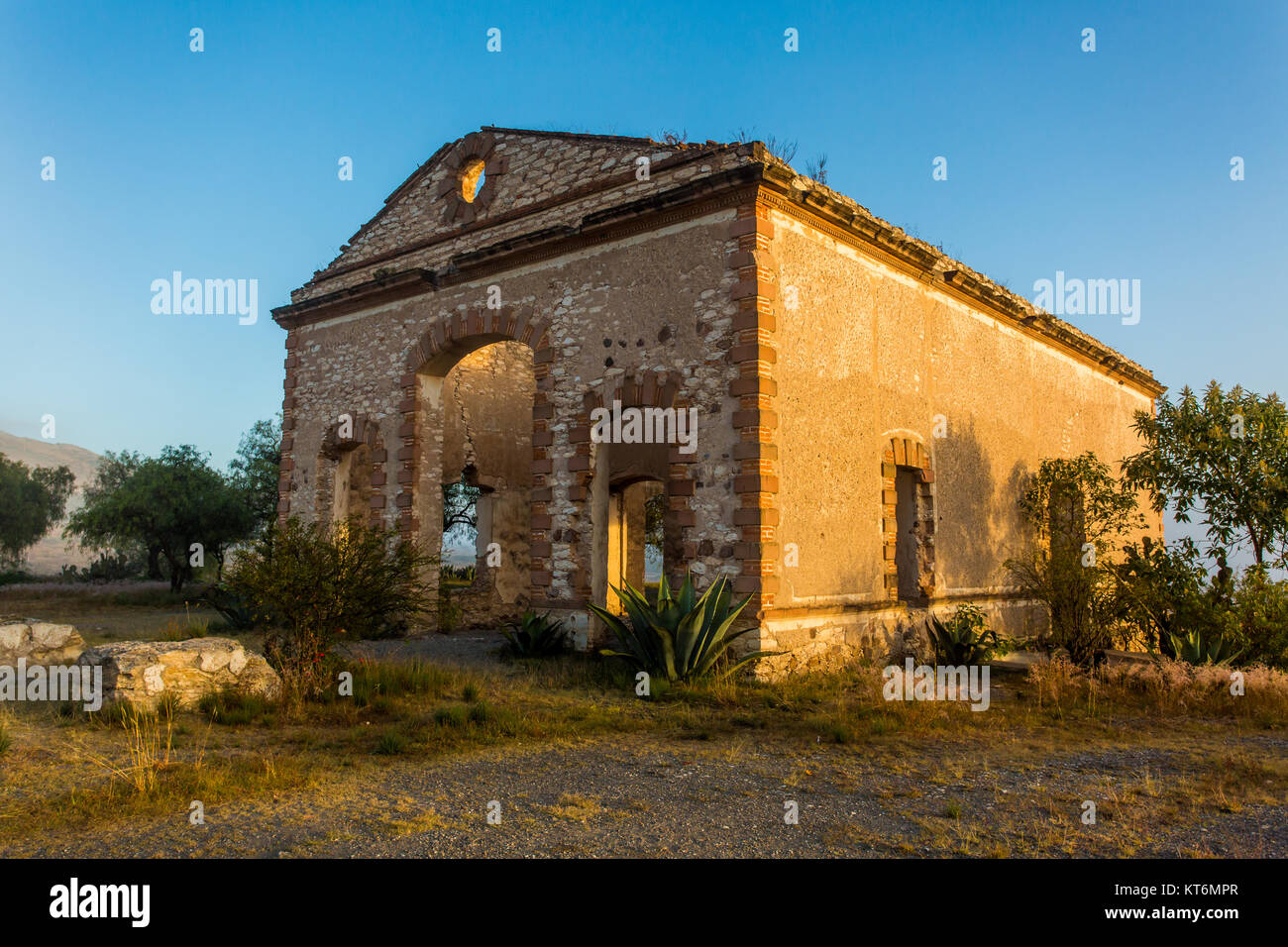 Old miners town in Mexico Mineral de pozos - Stock Image