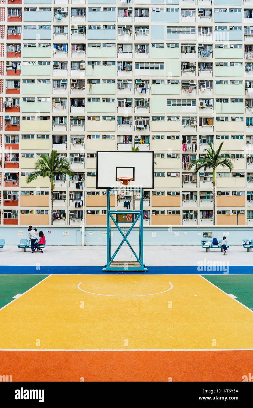 Hongkong residential building - Stock Image