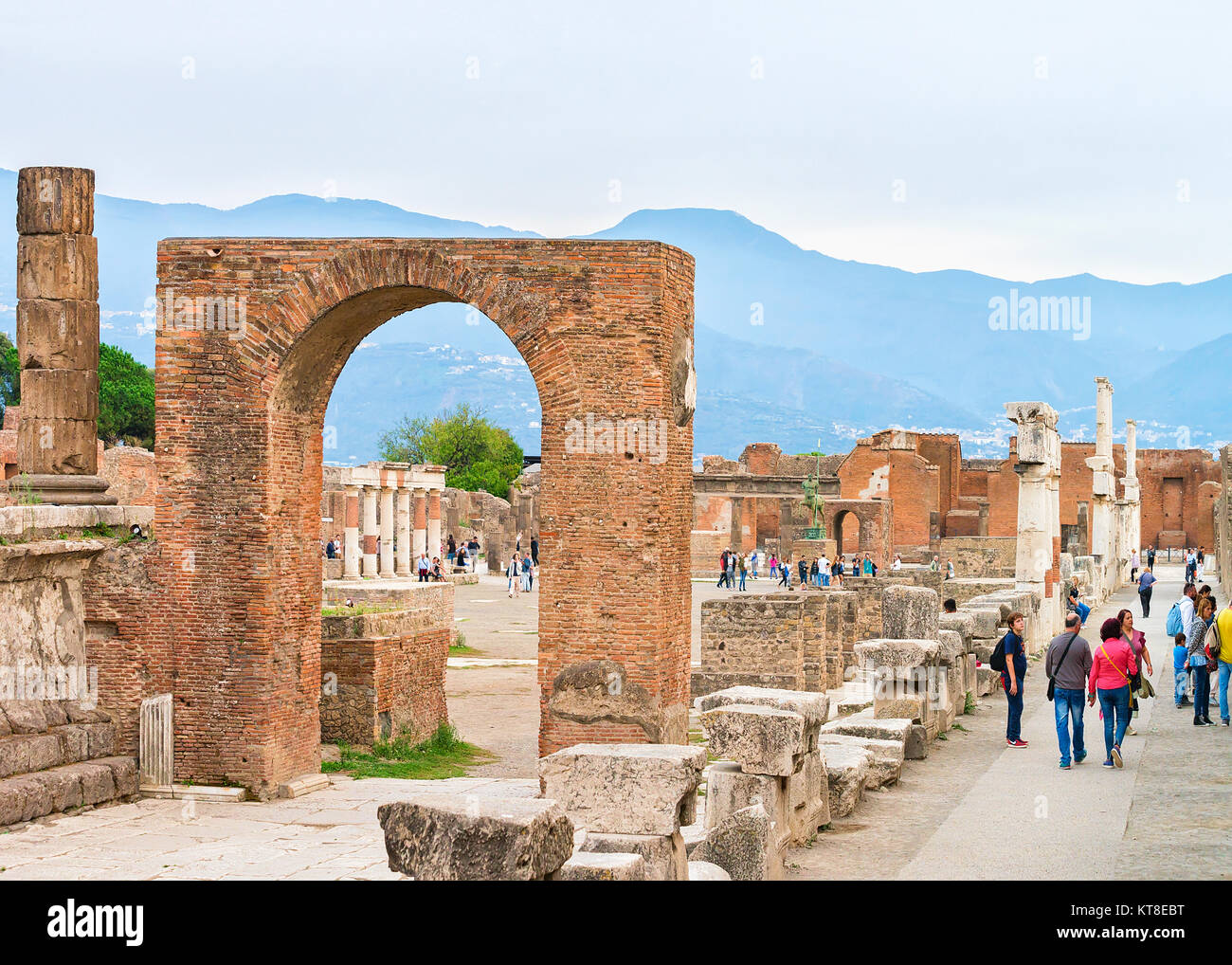 Pompeii Main Square Stock Photos & Pompeii Main Square ...