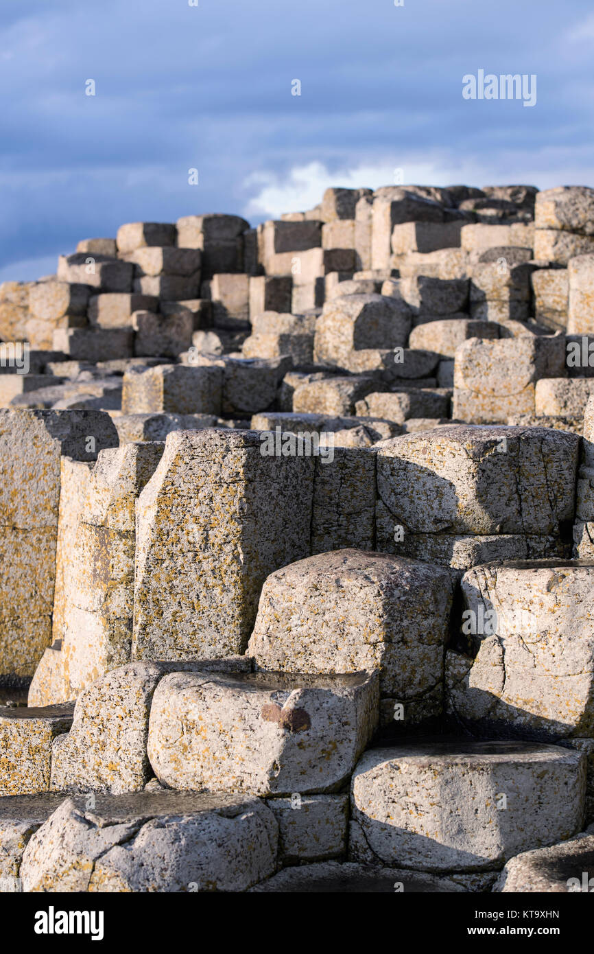 Detail of the Giant's Causeway in County Antrim, Northern Ireland - Stock Image
