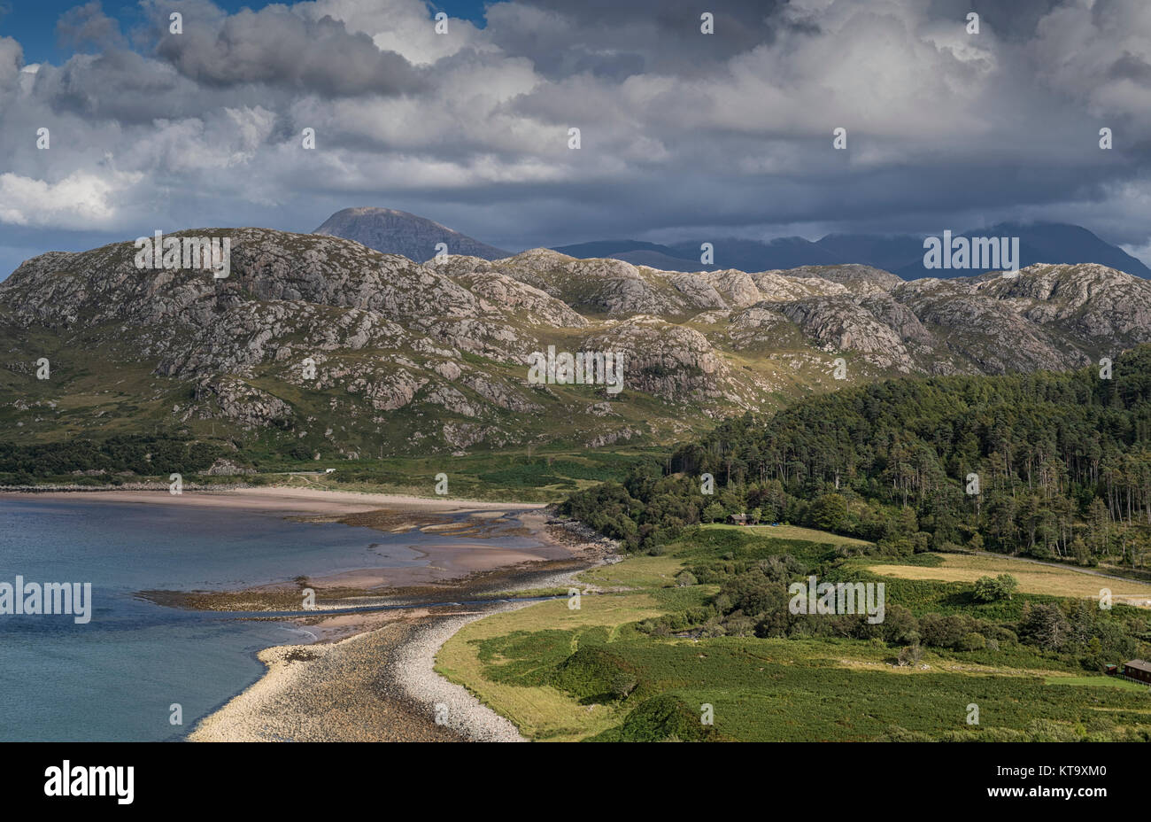 Scenic landscape near Laide in Wester Ross, Scotland - Stock Image