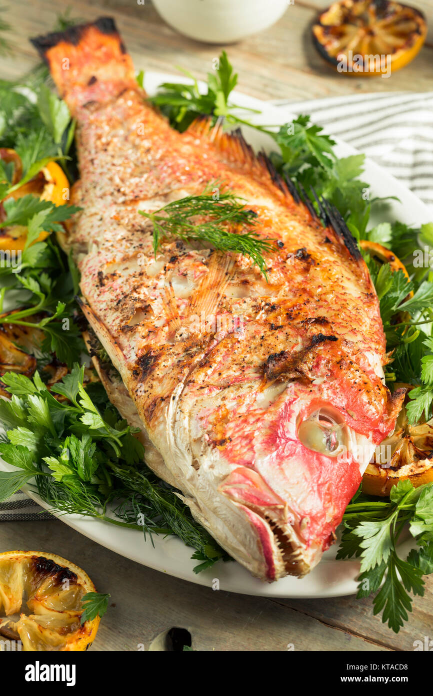 how to make whole red snapper fish