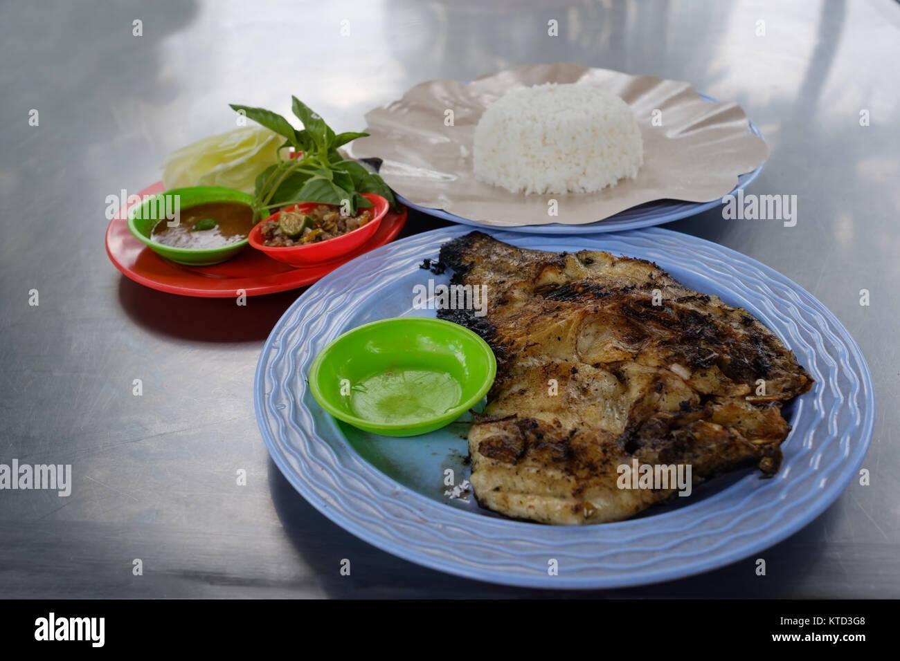 Fish Rice Thailand Stock Photos Fish Rice Thailand Stock