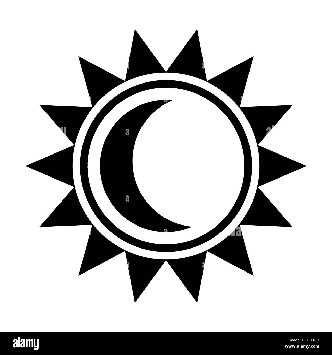 Pictures of Crescent Moon And Sun Symbol - #rock-cafe