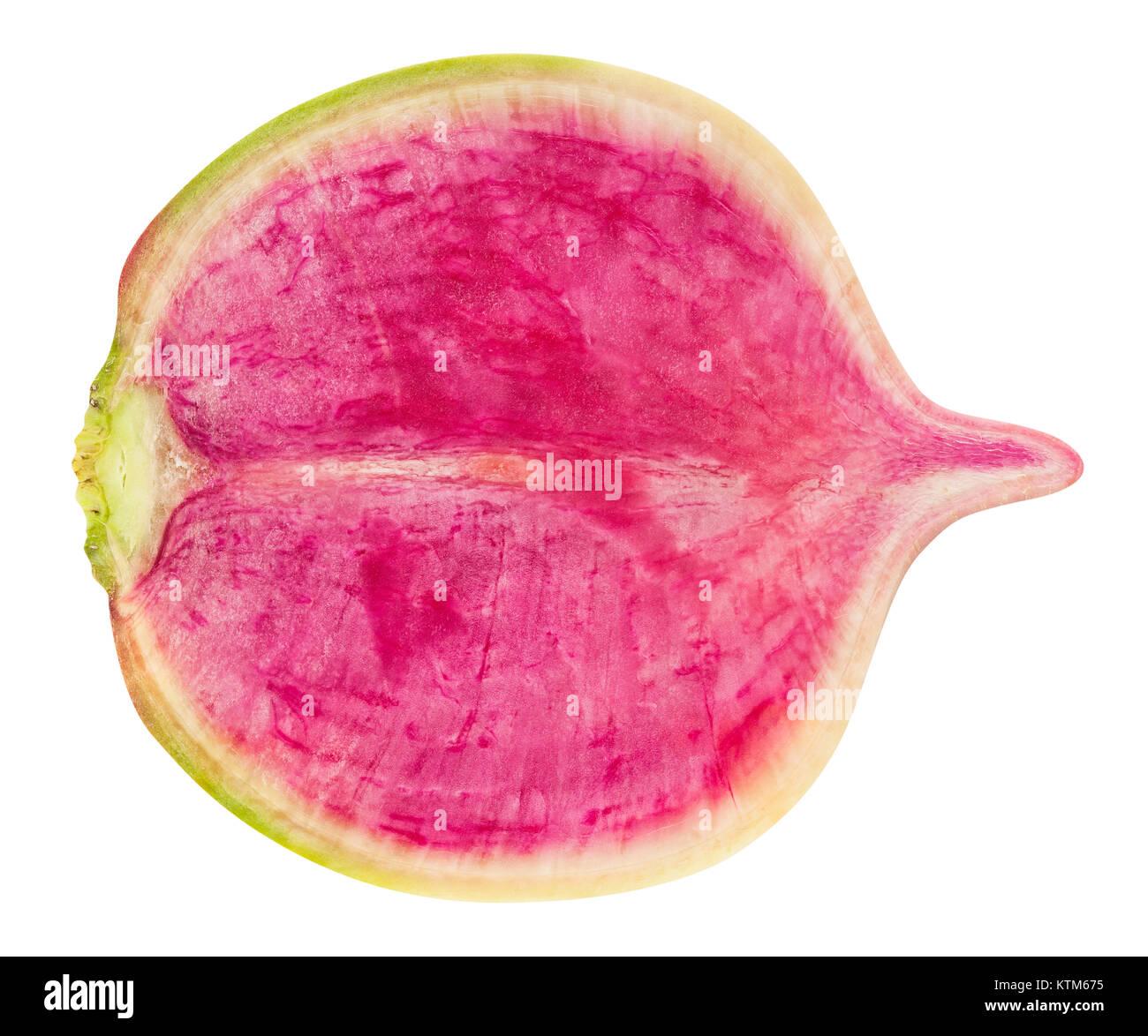 sliced turnip path isolated - Stock Image