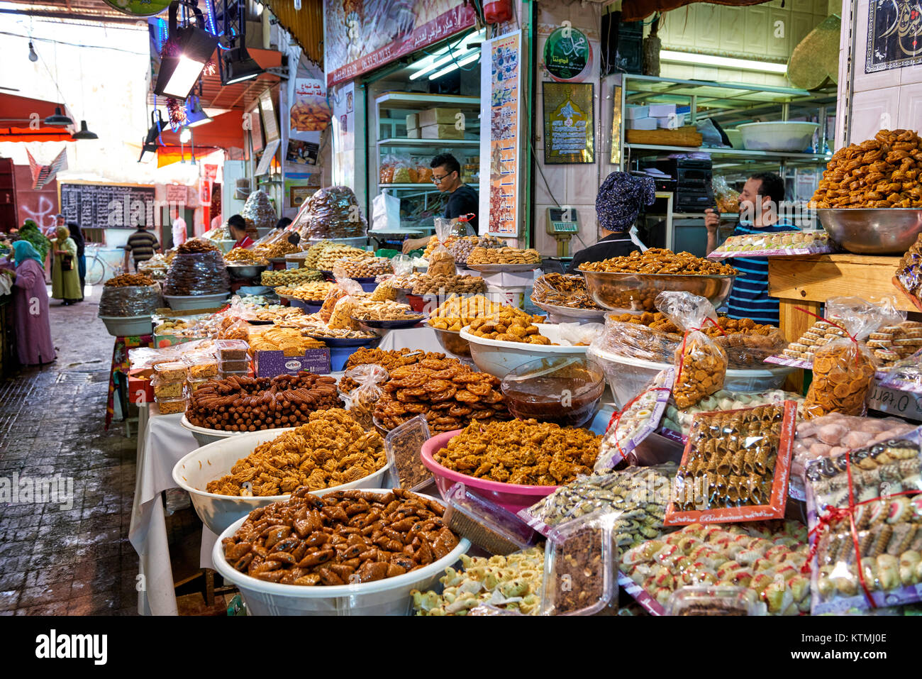 food market of  Meknes, Morocco, Africa - Stock Image