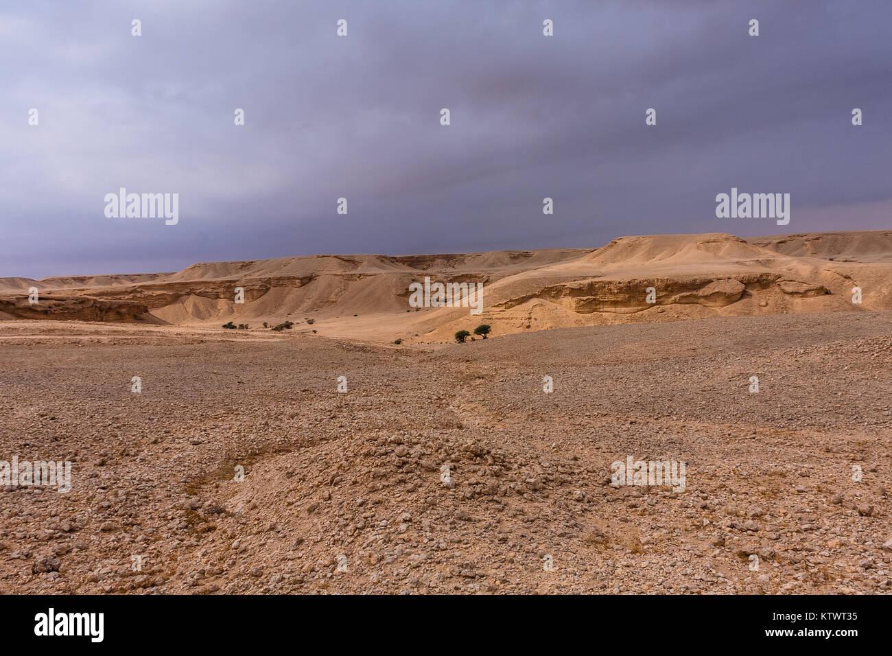 A desert landscape east of Riyadh - Stock Image