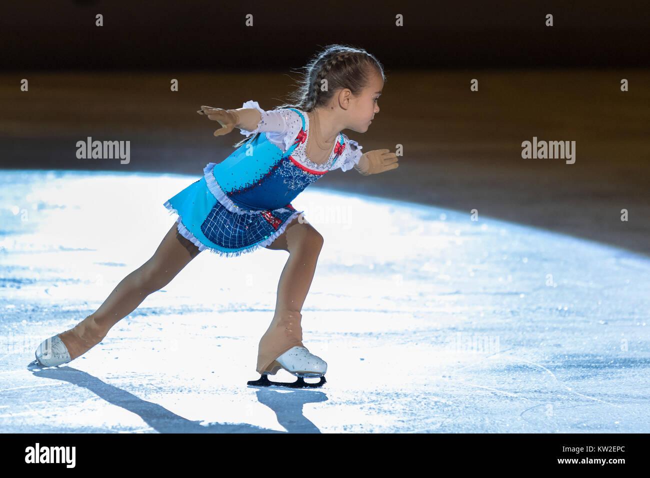 ZAGREB, CROATIA - DECEMBER 09, 2017: Figure skating competition Golden Spin of Zagreb 2017 gala. Gita Žitkovi?? - Stock Image