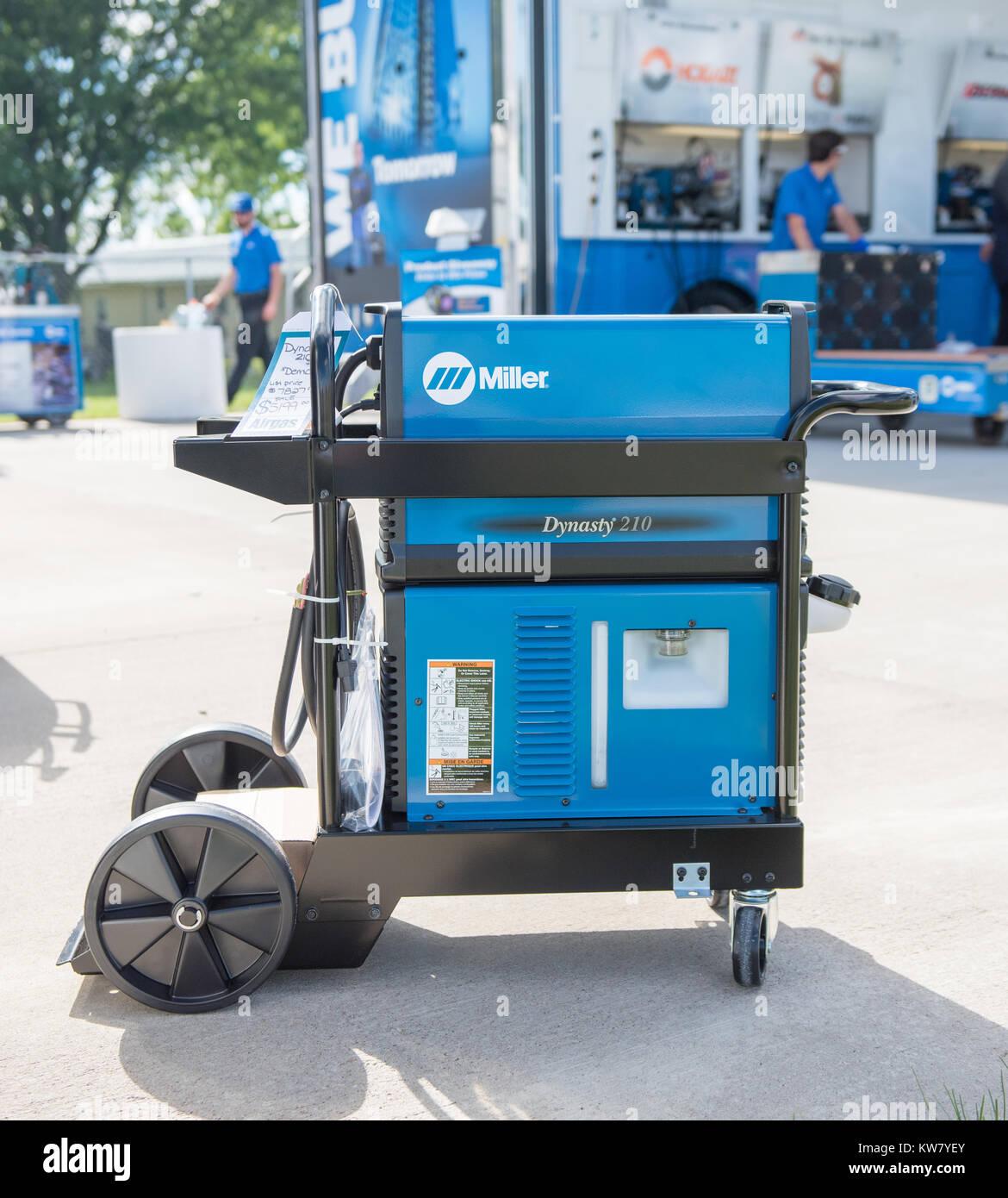 Oshkosh, WI - 24 July 2017:  A Miller welder machine on display - Stock Image