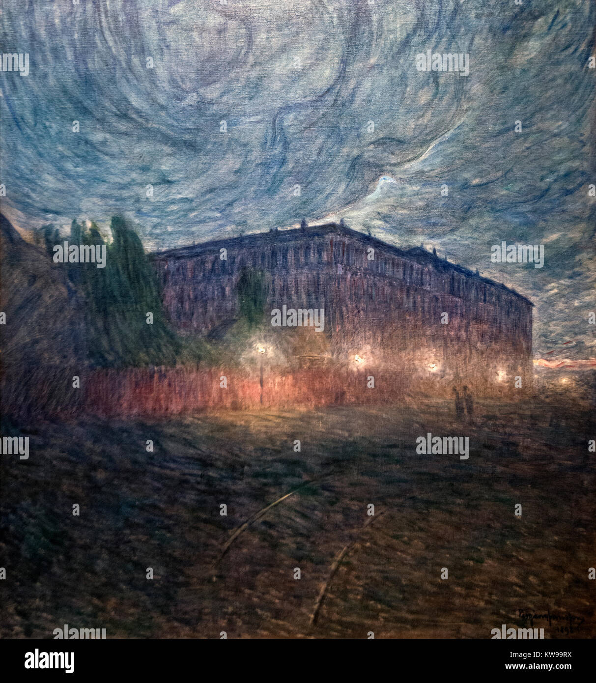 Eugène Jansson: 'Stormy Night' (1898) - Stock Image