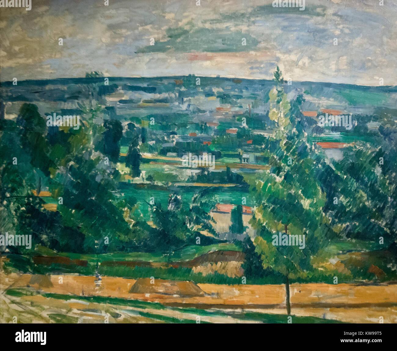 Paul Cezanne: 'Landscape near Melun' (1879) - Stock Image