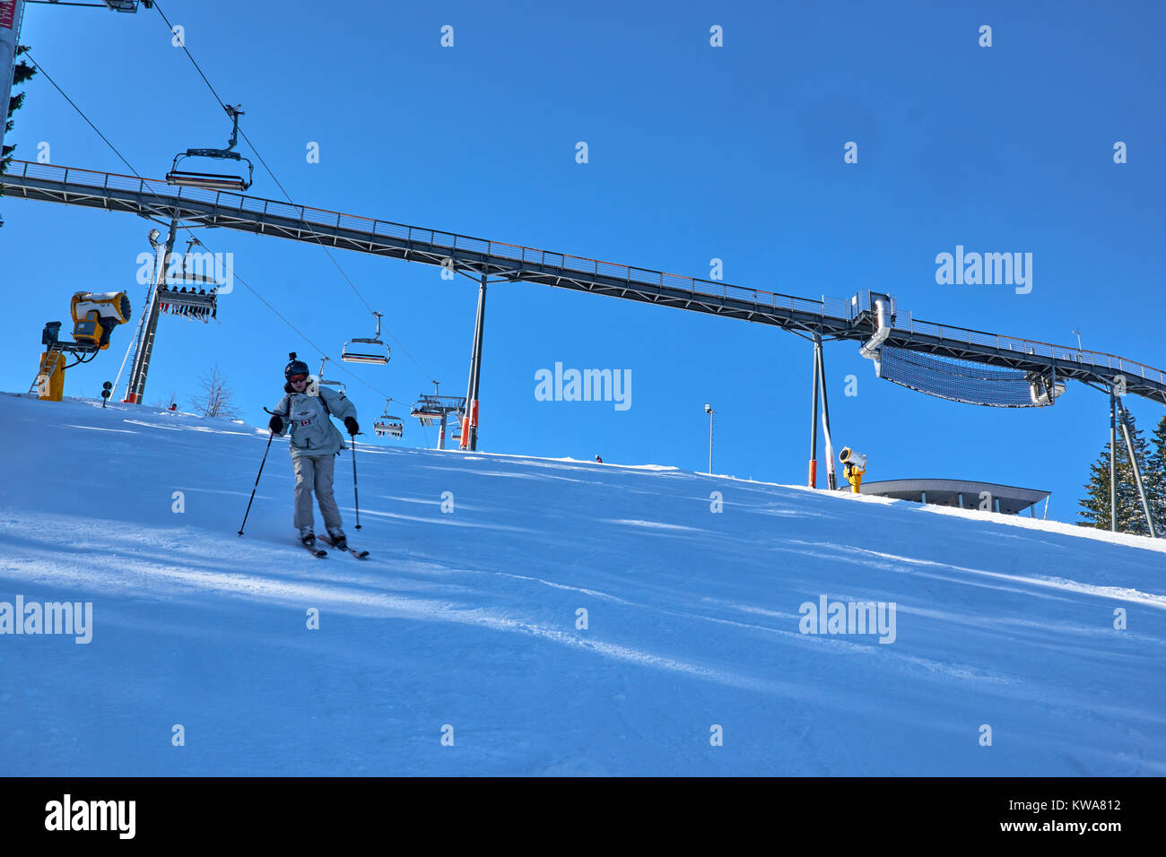 WINTERBERG, GERMANY - FEBRUARY 14, 2017: sat Ski Carousel Winterberg - Stock Image