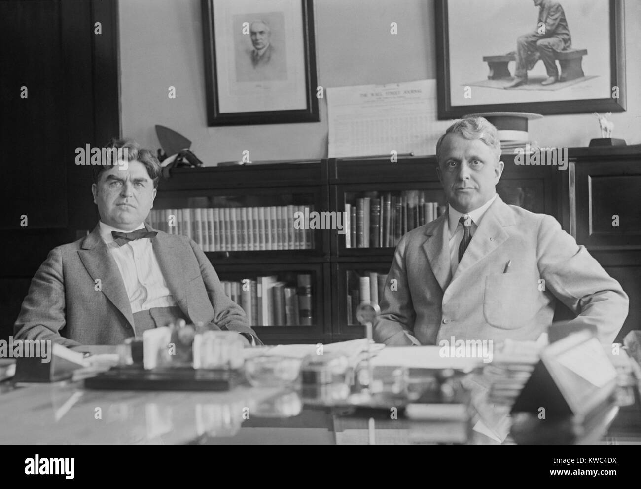 United Mine Workers President John L. Lewis with Labor Secretary James Davis, June 26, 1922. In April 1922, violence - Stock Image