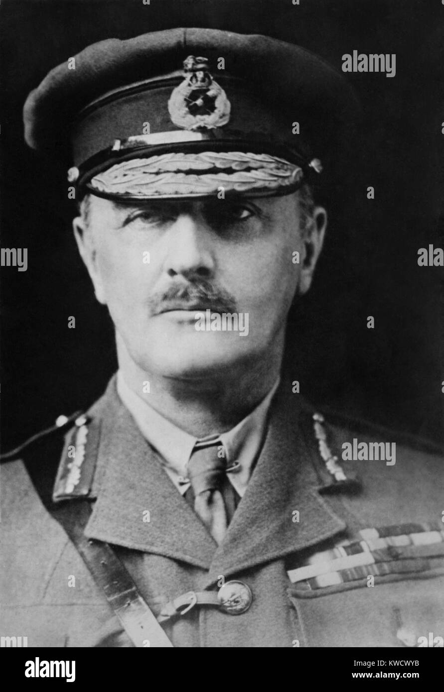 General Edmund Allenby led the British Empires Sinai and Palestine Campaign in WW1. The Ottoman Empire fought against - Stock Image