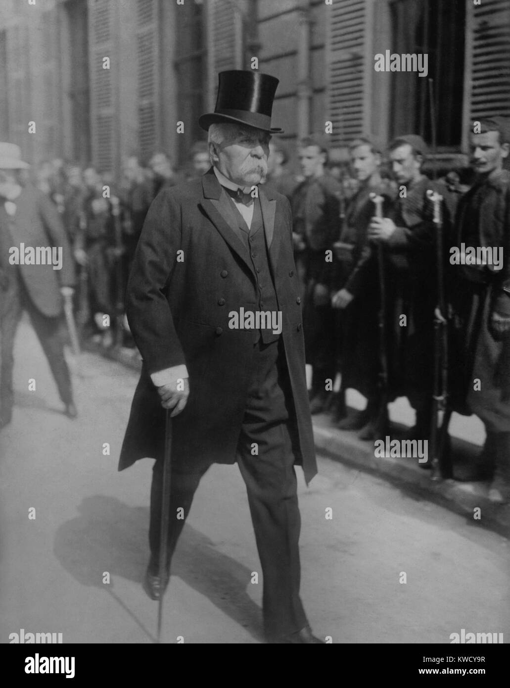 Georges Clemenceau, Nov. 1917, when he became Prime Minister of France and Minister of War. France was enduring - Stock Image