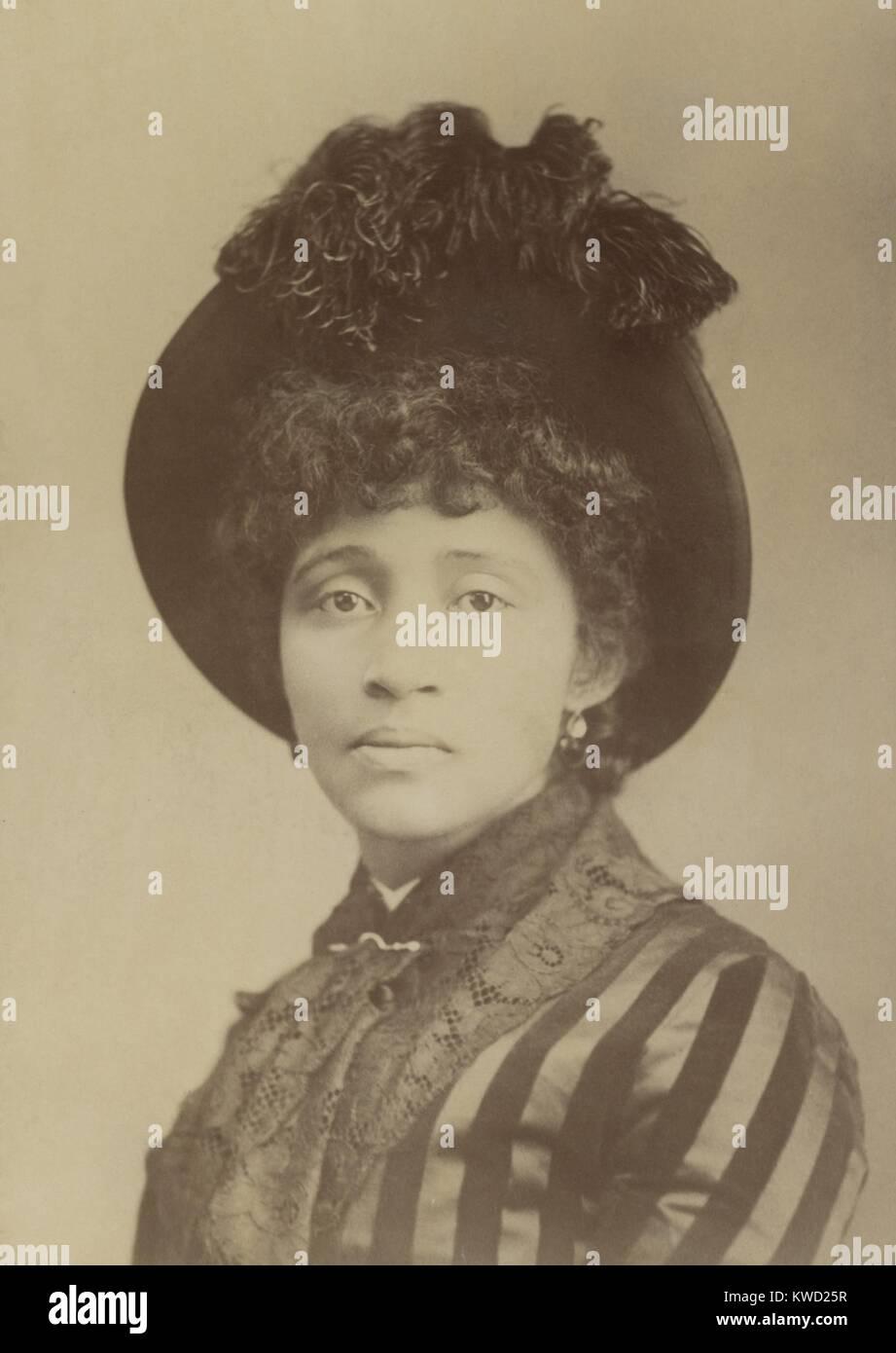 Lucy Eldine Parsons was a labor organizer, radical socialist, and anarchist communist, c. 1886. Born Lucy Eldine - Stock Image