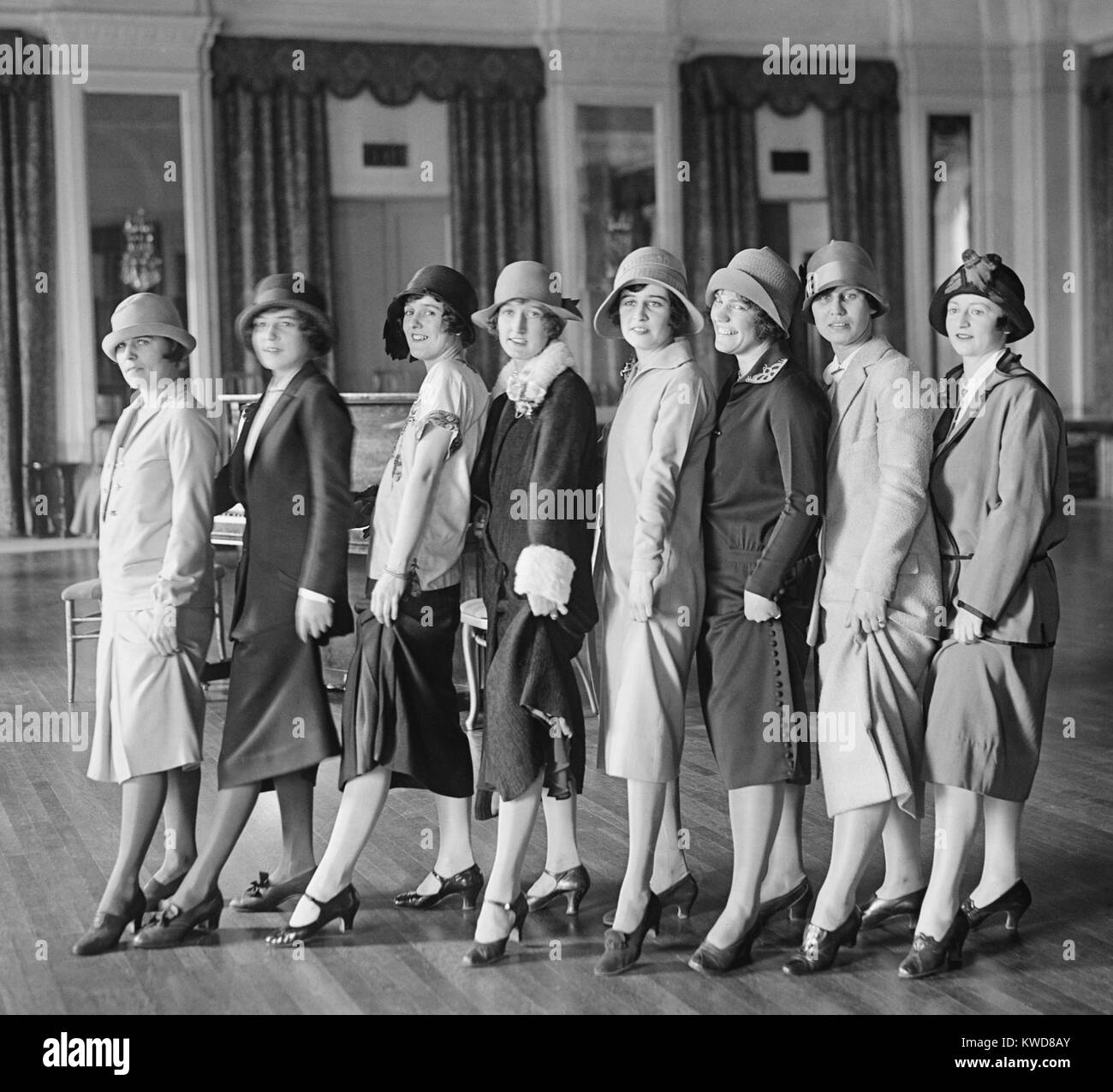'Washington Debs' rehearsing for comedy March 25, 1923. Washington, D.C. vicinity (BSLOC_2015_17_211) - Stock Image