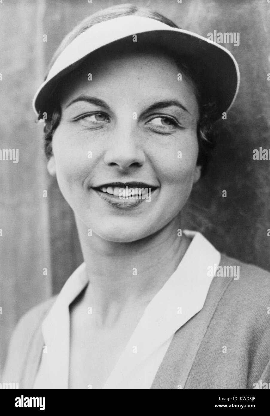 Helen Wills Moody in 1931. She held the top position in women's tennis for a total of nine years: 1927–33, 1935 - Stock Image