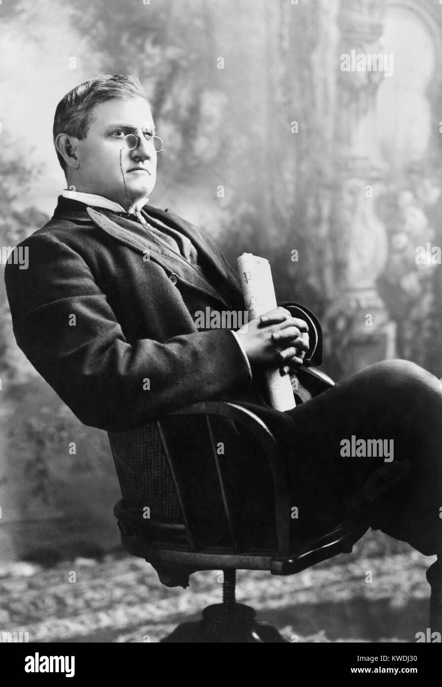 South Carolina Senator Benjamin Ryan Tillman, c. 1905. He came of age during the Civil War and established his family - Stock Image