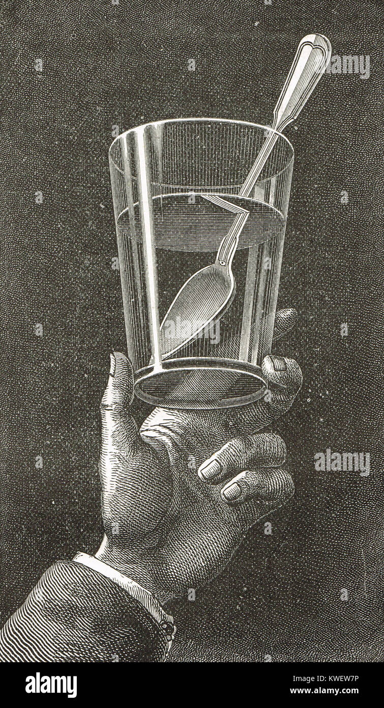 Illustration of Total internal reflection - Stock Image