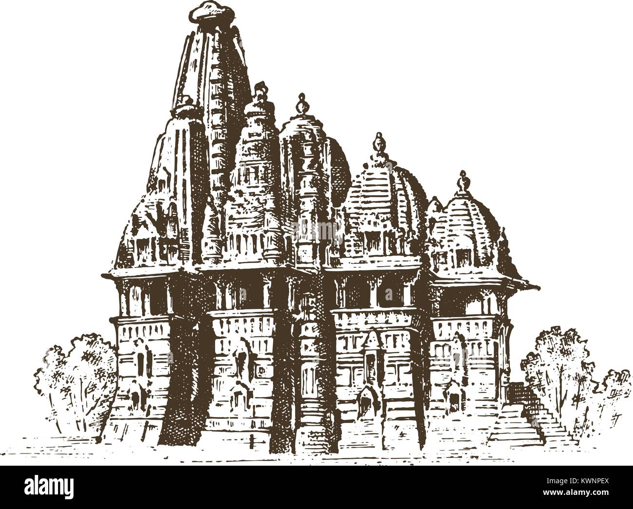 Bangalore stock vector images alamy for Religious buildings in india