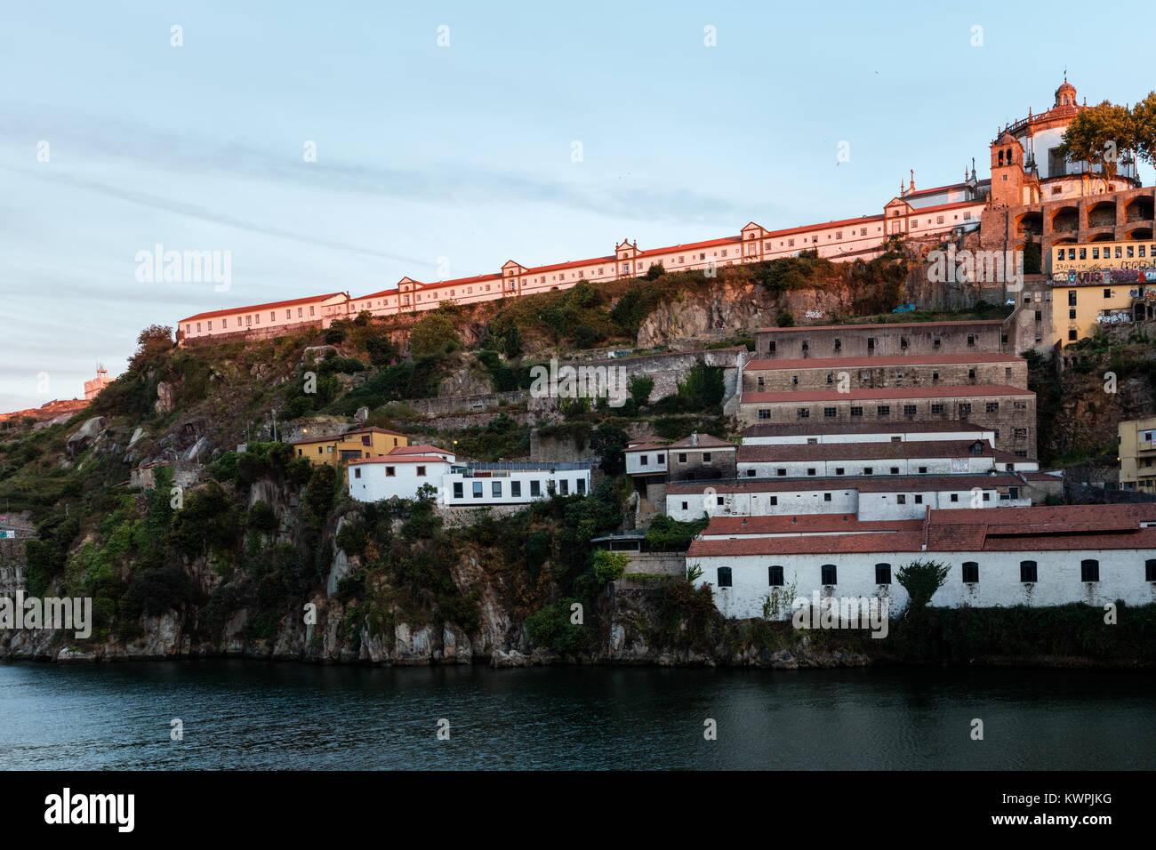 17th-century Monastery Serra do Pilar in Porto, Portugal. UNESCO World Heritage since 1996. - Stock Image