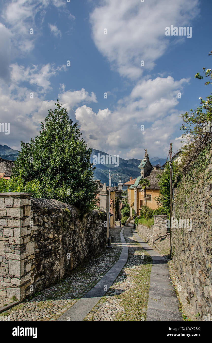 Orta San Giulio attractions like Chiesa parrocchiale di Santa Maria Assunta can be center stage of your vacation - Stock Image