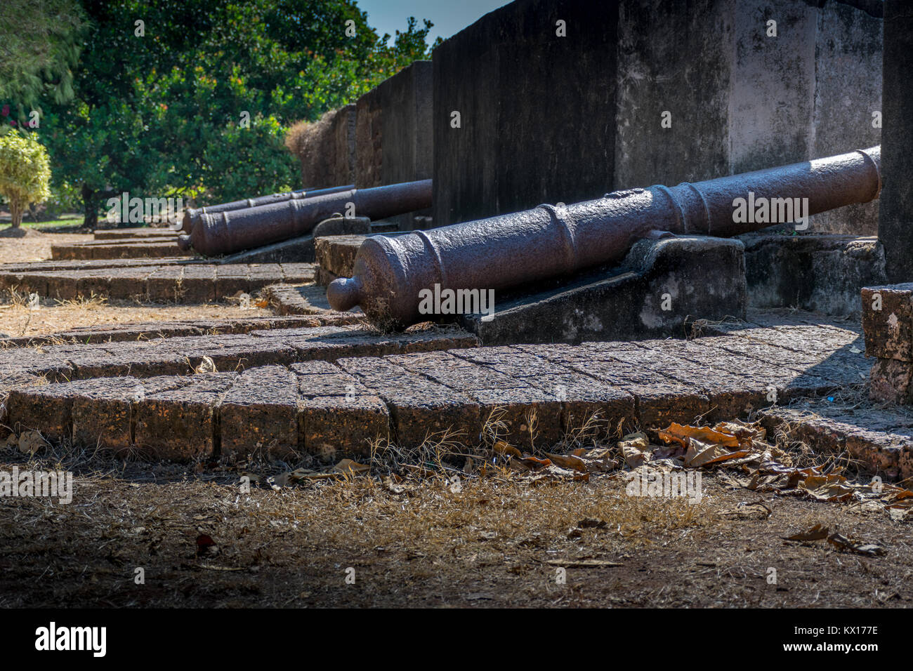 St. Angelo Fort View, Kerala, Kannur - Stock Image