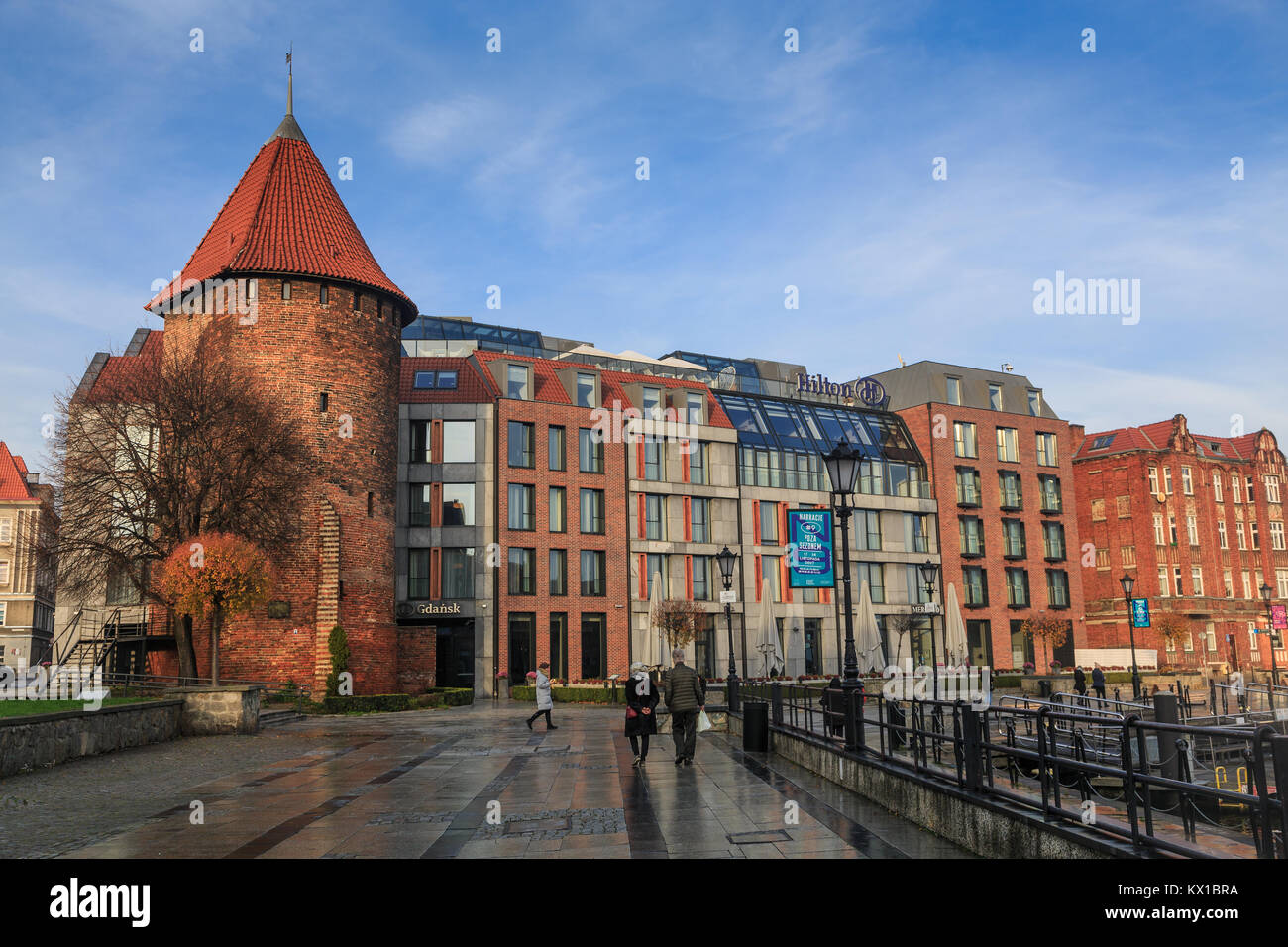 Hilton Hotel in Gdansk, Poland - Stock Image