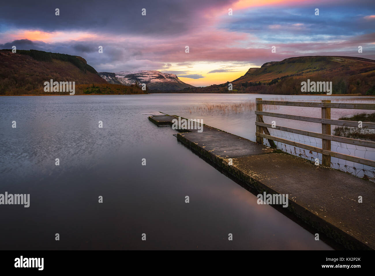 Glenade Lough View in Couty Leitrim - Ireland - Stock Image