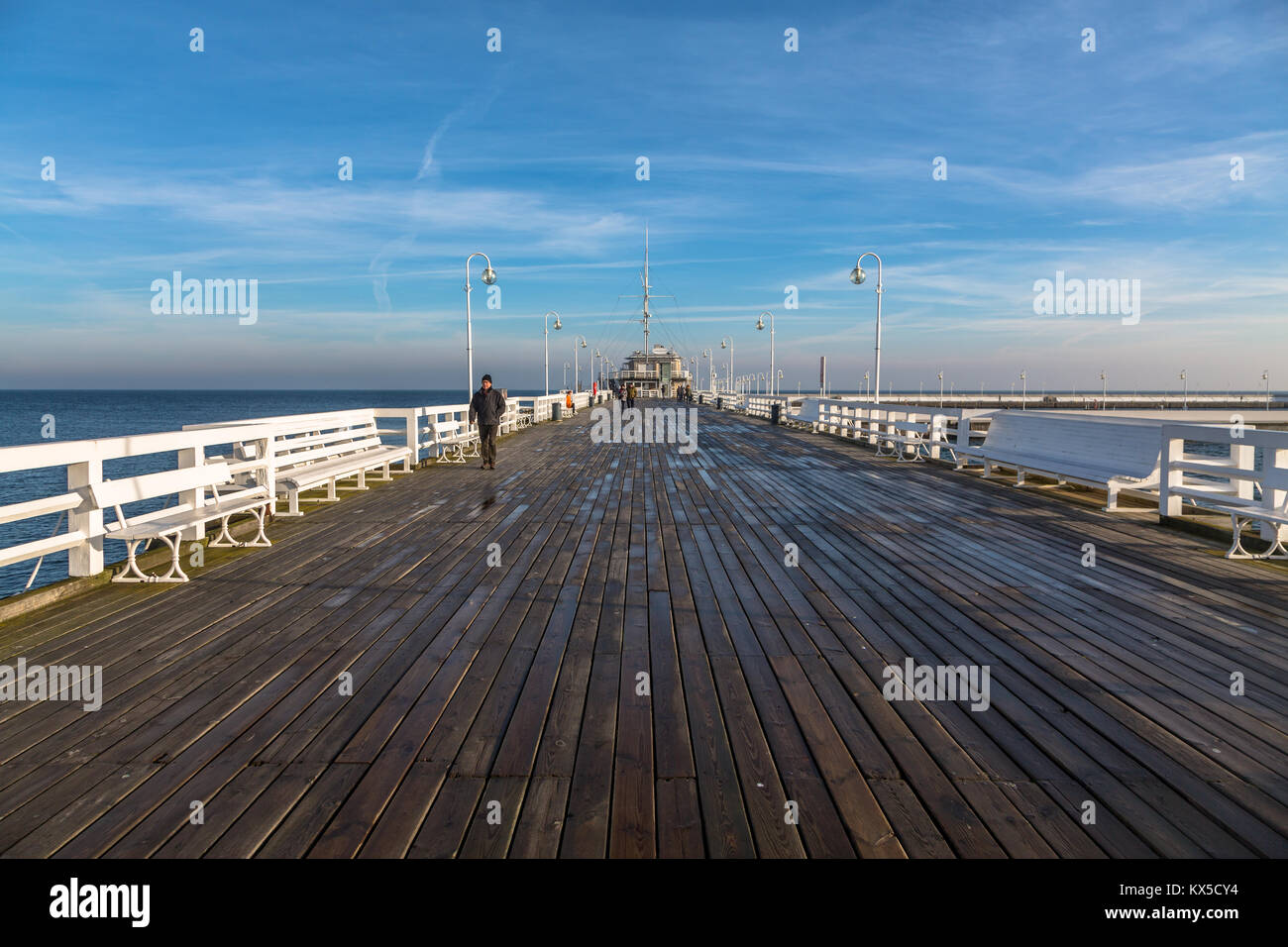 The pier in Sopot, Poland - Stock Image