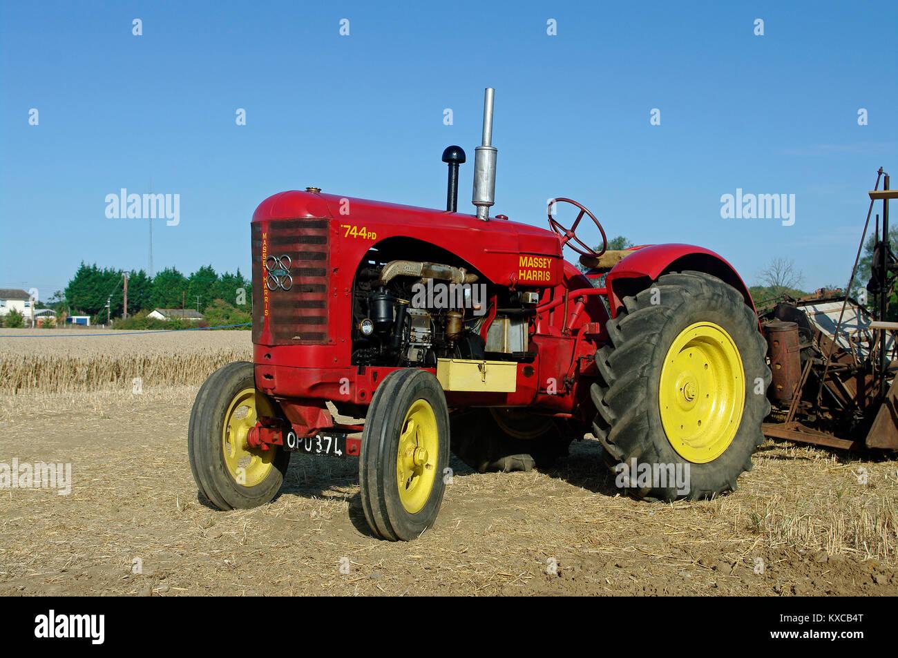 Massey Harris 744 : Massey harris tractor stock photos