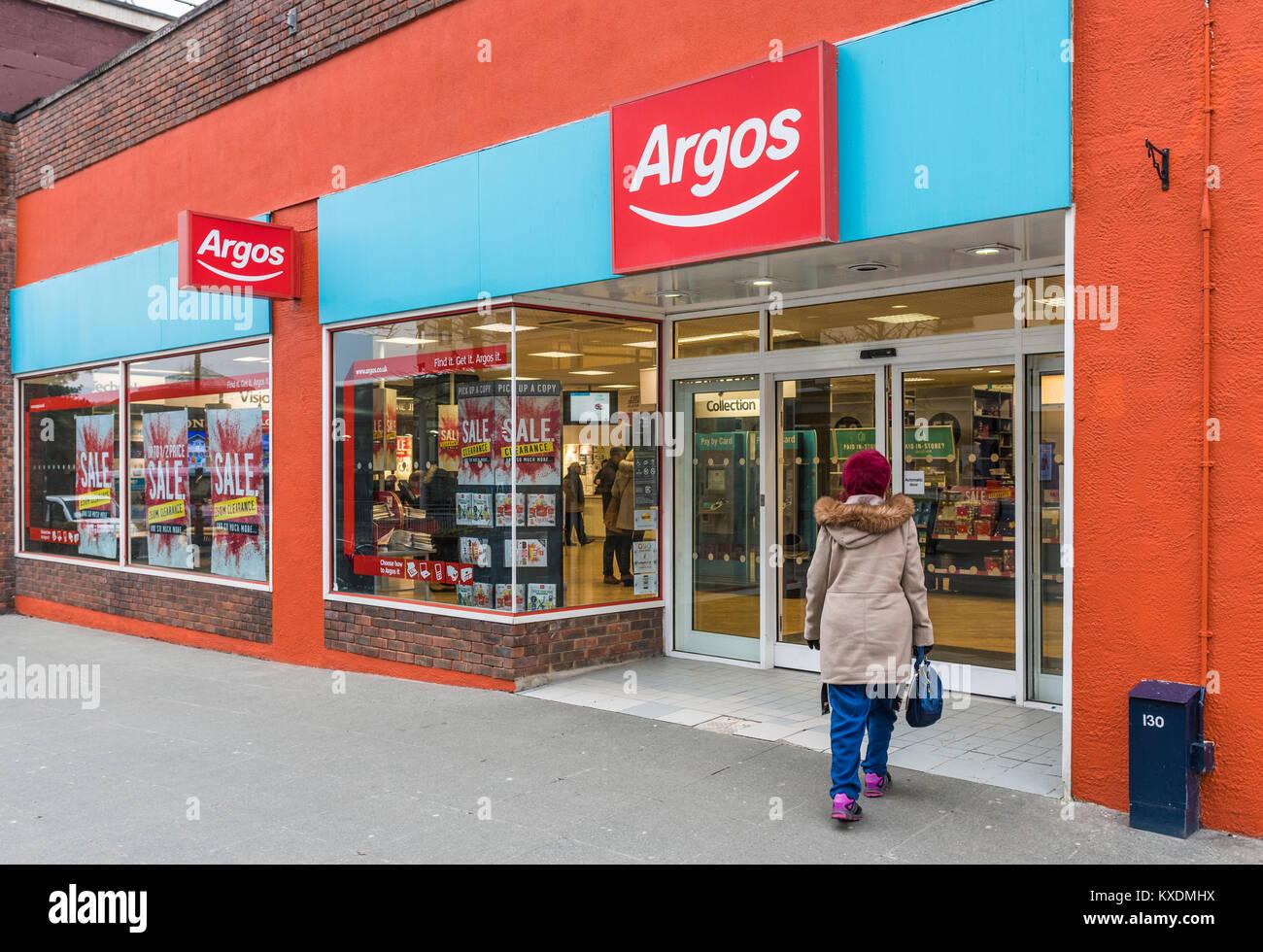 Argos shop front entrance in Horsham, West Sussex, England, UK. Stock Photo